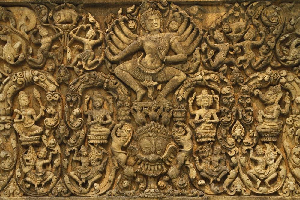 carvings as work of art in the hindu temples Kailasa temple , 1200-year-old ancient hindu temple carved from a single rock in ellora, stands majestically 29 kilometers away from the cit.